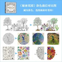 english books - Free UPS Fedex ship Secret Garden Coloring Books Children Adult English Edition Relieve Stress Drawing Book gift Pages