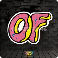 Wholesale ODD FUTURE DONUT STICKER random non repeating bike skateboard deck notebook laptop car wall Motorcycle stickerbomb PC luggage Fixed Gear