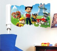 wall tile - NEW design Paw Patrol removable wall poster for kids children s room decoration christmas gifts for boys paw patrol room decor