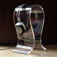 Wholesale Top quality acrylic Headphone display bracket acrylic Headband Holder Clear or Black Acrylic display stand for headphones