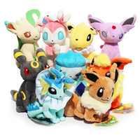 best figures - Poke plush Styles cm plush toy Glaceon Leafeon Eevee Vaporeon Flareon Espeon Jolteon Umbreon stuffed doll Best gift