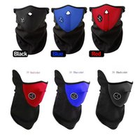 Wholesale Cycling Face Mask Bicyle Cycling Motorcycle Fleece Half Helmet Face Mask Winter Hood Windproof Cap Headwear Thermal for Sports Ski Snowboard