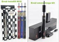 vape - Evod emow mega kit electronic cigarette mahevod kits evod twist e cigarettes battery and atomizer tanks e cig vape vaporizer pen