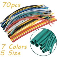 Wholesale 70pcs Colors Sizes Assortment Polyolefin H type Heat Shrink Tubing Tube Sleeving Wrap Wire Cable Kit