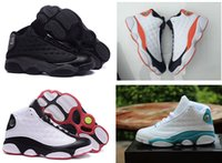 beach footwear men - Newest Retro XIII Basketball Shoes Men sneakers Athletics Shoes Green Blue South Beach Sport Sports Footwear Outdoor shoe