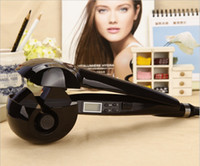Wholesale 2014 NEW Pro LCD Titanium Hair Curler Magic Screen Display Automatic Hair Roller Perfect Styling Tools