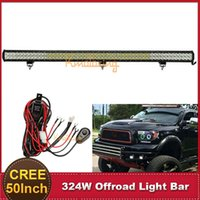Cheap CREE 50'' Inch 324W LED Light Bar Offroad Spot Flood Combo Beam ATV SUV 4WD 4X4 Bumper Driving Lamp 12V 24V Auto Styling Lamp