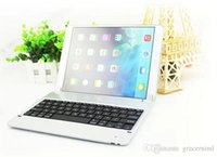 Wholesale Bluetooth Wireless Keyboard Ultrathin ABS Aluminium Alloy Keyboard Cover Case for iPad Air Silver P1305