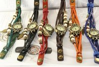 Wholesale retro jewelry watch withleather bracelet watch ladies fashion accessories Color