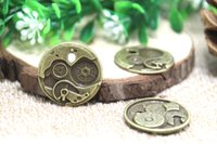 antique clock faces - 10pcs Clock Gears charms Antique bronze Round Watch Face Charm Pendants x11mm