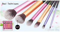 Wholesale 2015 High Quality real RT technicial Make up Brushes set soft hair Professional Makeup powder brush set DHL