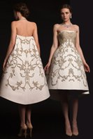 art making machine - ashi studio Couture Machine Eembroidery Short Prom Dresses Online Clothes Store Krikor Jabotian knee length dresses party evening wear