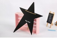 Wholesale New Style Five pointed Star Shape Black Message Board Home Articles Kindergarden Wooden Teaching Blackboard