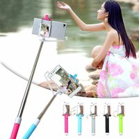 Wholesale New Stainless Steel Portable Handheld Extendable Monopod Selfie Stick With Capture Mirror For iPhone Samsung Huawei and Xiaomi