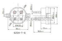 tube amplifier - 2PCS high quality ceramic pin tube socket for A3 B PX4 Z3P U4G A GOLD PLATED BRASS PIN