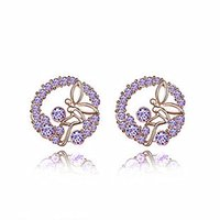 adorn dance - R083 Small jewelry Flowers dancing butterfly angel earrings popular adorn article