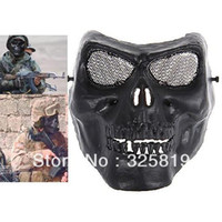 Wholesale Free shiping Full Face Protective Anti Strike Skeleton Warrior Mask