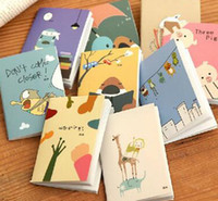 Wholesale 2016 Korea stationery mini stitch book notebook diary soft copy cartoon small prizes gifts school supplies Memo Pad Notebook