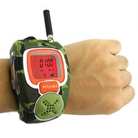 walkie talkie watch - 2pcs Camouflage Freetalker UHF W CH VOX Scan CTCSS DCS Mini Portable Two way Watch Radio Walkie talkie For Kid A7205M
