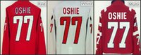 77 - 2015 New Style Washington TJ Oshie Hockey Jerseys Home Red White Thomas Leif T J T J TJ Oshie Jersey Embroider