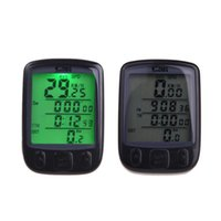Wholesale 2015 Waterproof Multifunction Wired Bike Bicycle Cycling Computer Odometer Speedometer LCD Backlight Backlit Computer