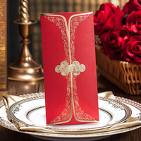 Wholesale Chinese knot Red Envelope Vintage Red Envelopes for Wedding favors Chinese New Year event Lucky Money or Voucher ME211