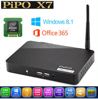 Wholesale Pipo X7 Mini PC TV Box Intel Z3736F Quad Core Windows With Bing OS IPTV Media Player RAM GB ROM GB HDMI Cable