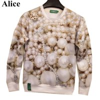 alice pearl necklace - Alice many buyer find hot model Pearl necklace printed d sweatshrits for women men high quality fashion hoodies free