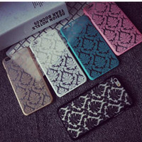 plastic flower - Brand Phone Case for iPhone S Plus inch Cases Vintage Flower Pattern Luxury Phone Back Cover for iPhone S SE S5 Case