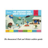 baby boy sports room - Play Scene Sticker The Amusement Park Winter outdoor sport learn DIY toy Cartoon Animal Sticker Toy for kid baby boy Girl
