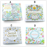 Wholesale Children Designs Secret Garden Animal Kingdom Fantasy Dream and Enchanted Forest Pages Kids Adult Painting Colouring Books B001