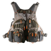 Wholesale Fly Fishing Backpack Chest Mesh Bag Vest Multi pocket General Size Adjustable