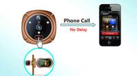 Wholesale Wireless WIFI Door Viewer IR Video Photo Motion Detection Intercom Doorbell Digital Peelhole Eye Door Camera