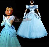 adult cinderella halloween costumes - New Arrival Cinderella Dress Cartoon Cosplay Costume princess dress For Adult party custom made
