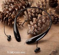 Wholesale HBS HBS Sports Stereo Bluetooth Wireless Headset Earphone Headphones for Iphone LG HBS samsung Hard Soft Box US14