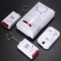 Meilleur prix IR sans fil Portable Détecteur Motion Sensor + 2 à distance Alarme Sécurité résidentielle Sécurité Burglar système facile à utiliser