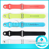 Wholesale Soft Silicone Wearables Watch band Strap For Apple Watch iwatch Wrist Watch band bracelet Fitness Replacement Straps mm mm Sport