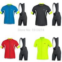 Wholesale gores cycling jersey bike sportswear short sleeve and bib shorts set cycling tight MTB fitness clothes Ropa ciclismo