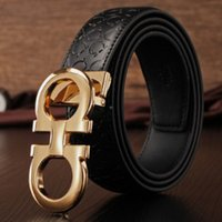 Wholesale Men s Simple Classic Leather belt Fashion Smooth Buckles Men s Belt Genuine Leather Belts Texture Leather Belts K001