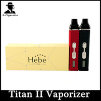 Single herbal vaporizer - HEBE Titan kit Dry herbal Vaporizer Electronic cigarette Dry herbs Vaporizer pen mAh Battery LCD Display Titan II Vaporizer VS TITAN