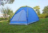 Wholesale Portable Brand quality single layer one person outdoor beach barraca camping tent for hiking fishing hunting adventure picnic