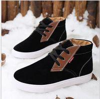 Wholesale 2015 new real hot sale freeshipping medium b m winter boots men shoes genuine big size waterproof botas