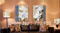 artificial flora - NO frame High quality artificial oil painting decorative painting modern vintage at home painting frame exquisite flora