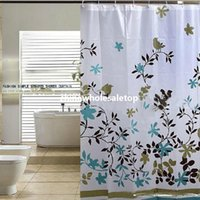 Wholesale Fashion m Thick Waterproof Mildew Shower Curtain Bathroom Classic Floral With Hooks Baby Product