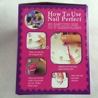 Wholesale Pro New Manicure Tv Nail Perfect Instrument Nail Painting Kit Nursing Art Equipment Tool Makeup Storage TV Nail Machine C0118