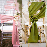 Wholesale High Quality Wedding Satin Ribbon Chair Sashes and Party Banquet Decor Bows CM All Colors Bridal Accessories