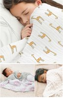 Wholesale 47 inch aden anais baby blankets newborn double layer blanket baby muslin swaddle blankets multifunctional blanket in stock