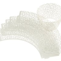 Wholesale Stylish pc New Little Vine Lace Laser Cut paper Cupcake Wrapper Liner Baking Cup Muffin