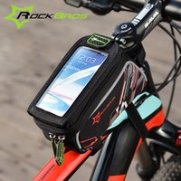 Wholesale ROCKBROS Bike Bag Colors Touch Screen MTB Road Cycling Bicycle Front Top Frame Tube Saddle Bag For Cell Phone