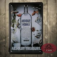 absolut poster - ABSOLUT VODKA Retro Metal Art Poster Vintage Antique Metal Tin Signs Decor Home Club Bar Cafe Hotel